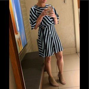 EUC TopShop blue striped dress